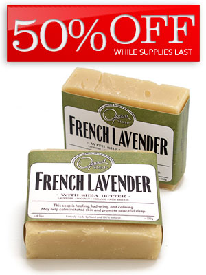 50% Off French Lavender Soap