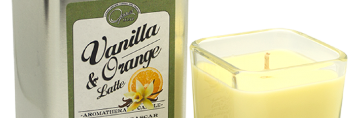 New Vanilla and Orange Latte Candle